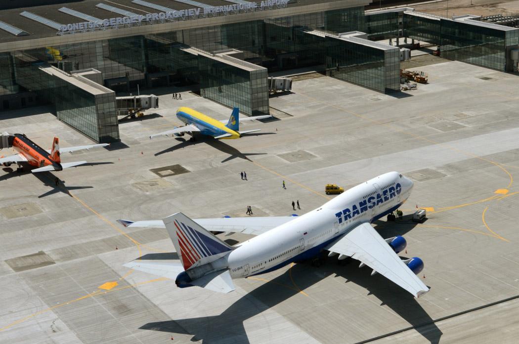 Новый терминал в аэропорту Донецк в 2012 году