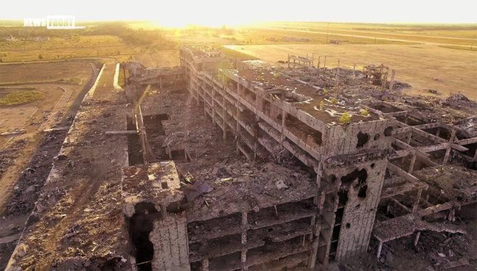 Руины аэропорта Донецк. новый терминал