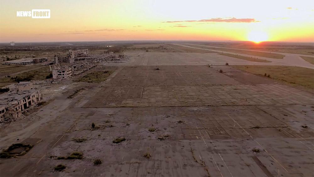 Вид на старый и новый перроны аэропорта Донецк