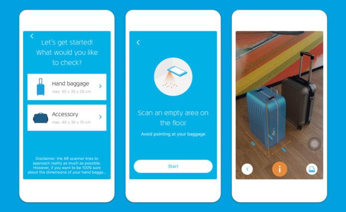 Скриншоты мобильного приложения KLM