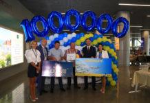 Миллионный пассажир 2018 года в аэропорту Одесса Денис Седун