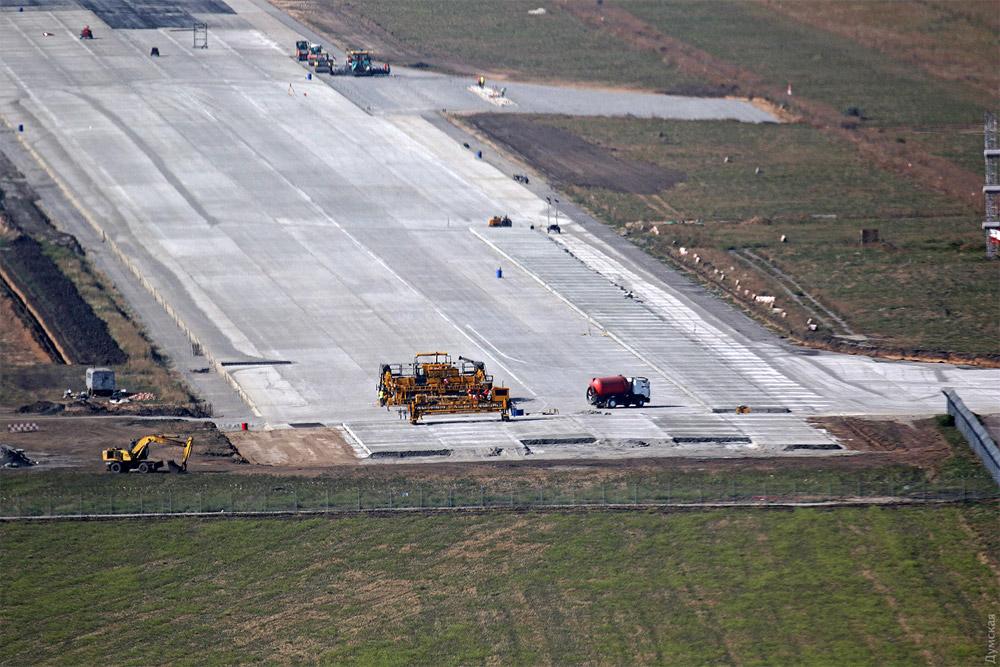 Строительство новой полосы в аэропорту Одесса