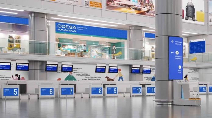 Новая стилистика аэропорта Одесса, разработанная компанией Fedoriv