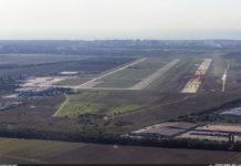 Вид на аэропорт Одесса с высоты