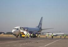 Boeing 737 Yanair в аэропорту Полтава