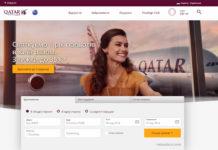 Сайт Qatar Airways на украинском языке