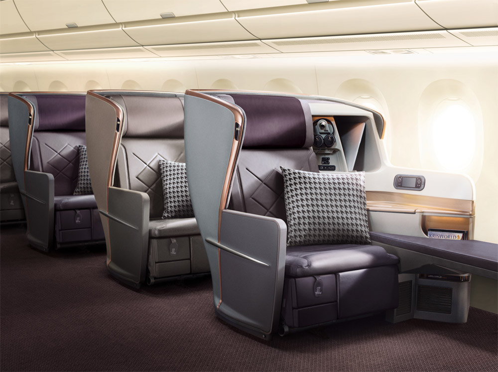 Бизнес-класс на борту сверхдальнего самолета Airbus A350-900 ULR Singapore Airlines