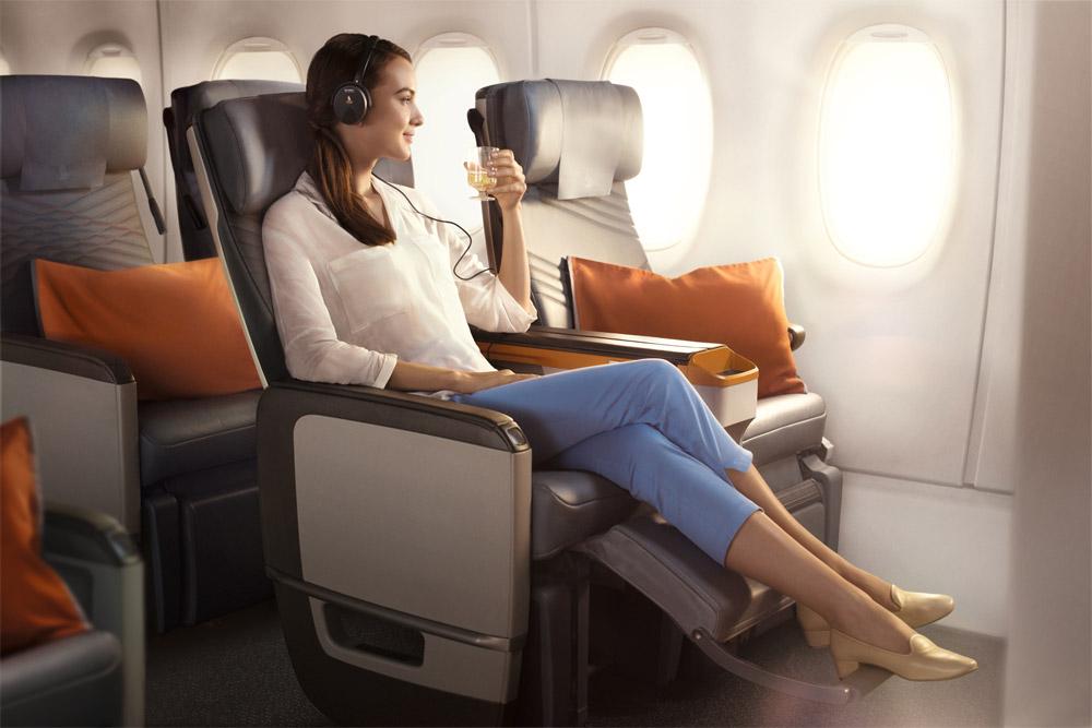 Премиум-эконом на борту сверхдальнего самолета Airbus A350-900 ULR Singapore Airlines