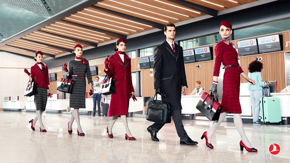 Новая форма бортпроводников Turkish Airlines