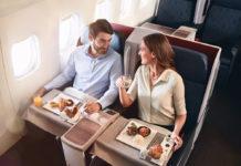 Подача питания в бизнес-классе Turkish Airlines