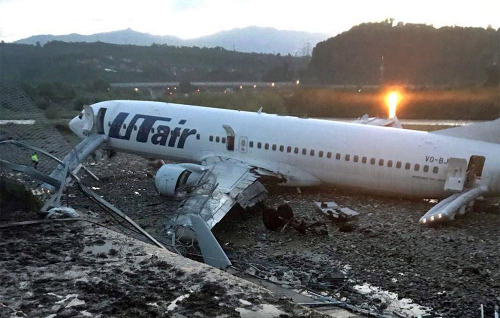 Boeing 737-800 Utair VQ-BJI после выкатки значительно повредил крыло, шасси и двигатели