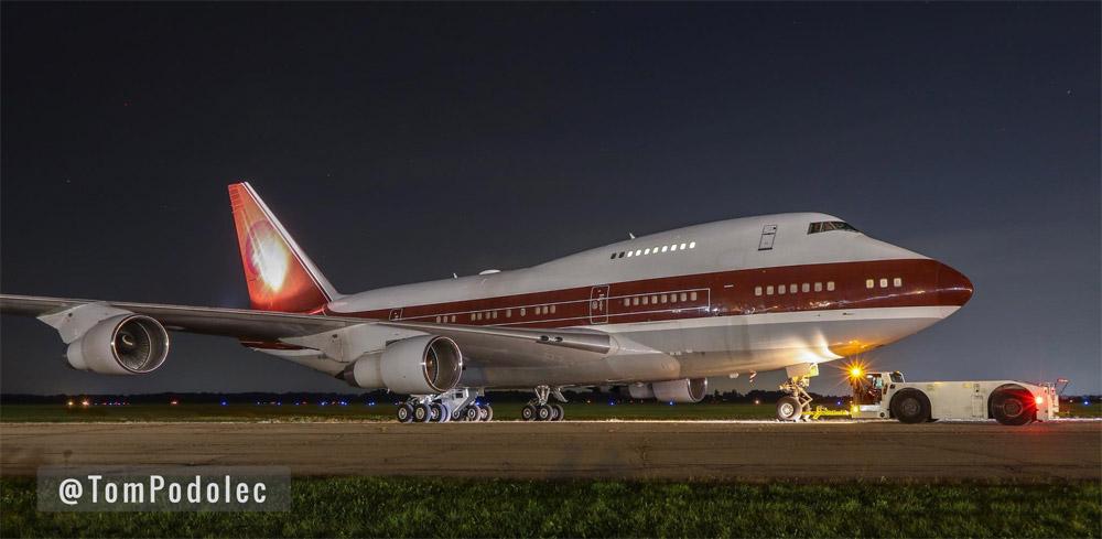 Boeing 747 SP в роскошно компоновке ранее возил королевскую семью Катара