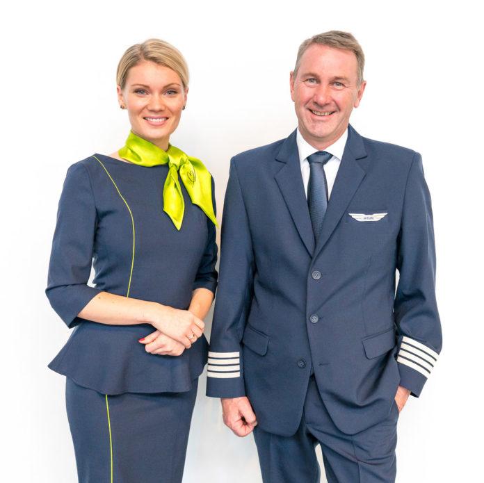 Новая форма экипажей авиакомпании airBaltic