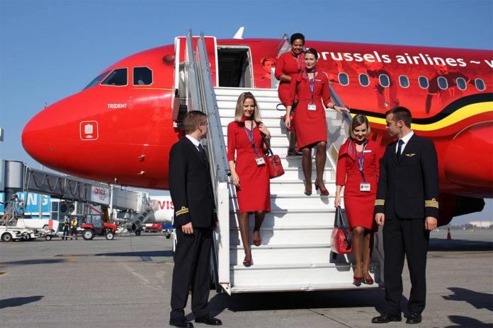 Самолет Brussels Airlines, совершивший первый рейс из Брюсселя в Киев, носит название Trident.