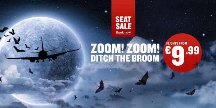 Рекламный постер Ryanair о распродаже билетов на Хеллоуин