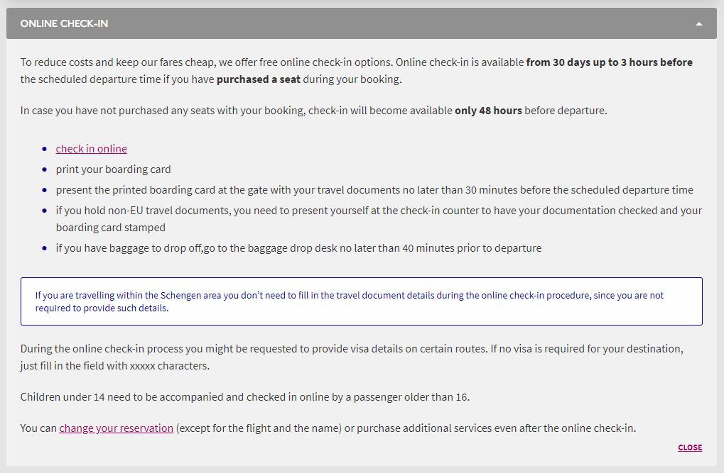 Обновленные правила регистрации на сайте Wizz Air