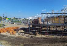 Строительство нового правого крыла терминала А в аэропорту Жуляны