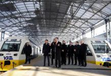 """Первые пассажиры поезда """"Киев-Аэропорт Борисполь"""""""