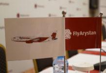 Логотип и дизайн ливреи нового лоу-коста FlyArystan. Фото: Air Astana