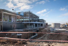 Строительство нового терминала в аэропорту Запорожье, ноябрь 2018 года. Фото: Запорожский городской совет