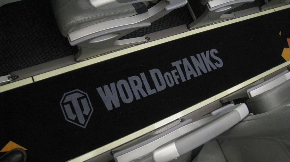 В салоне танколета 2 специальное оформление имеет даже ковролин