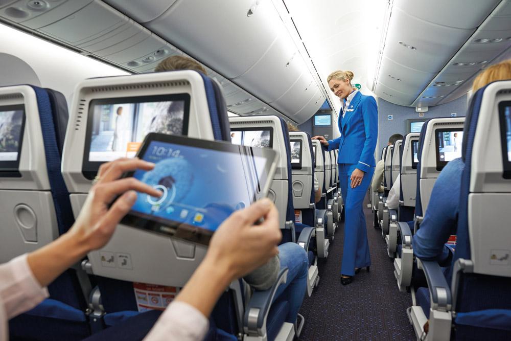 Обслуживание пассажиров KLM