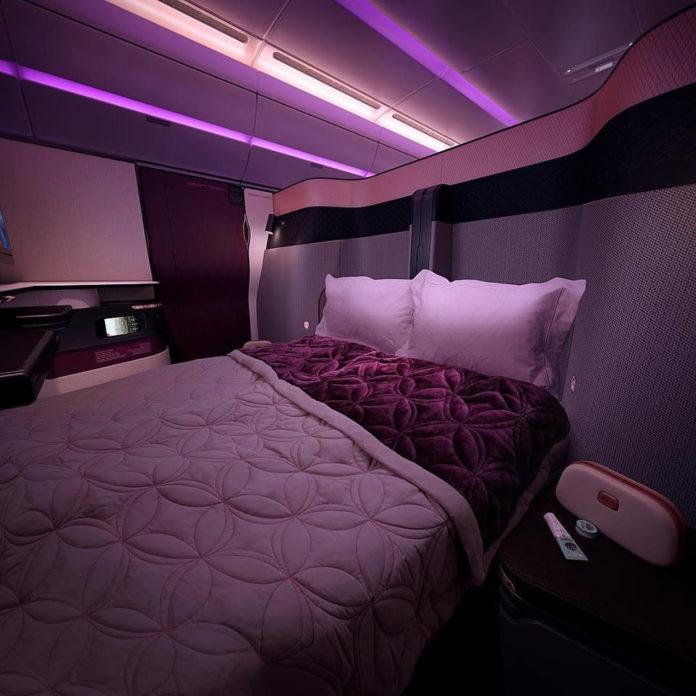 Бизнес-класс Qatar Airways Qsuite. Фото авиакомпании