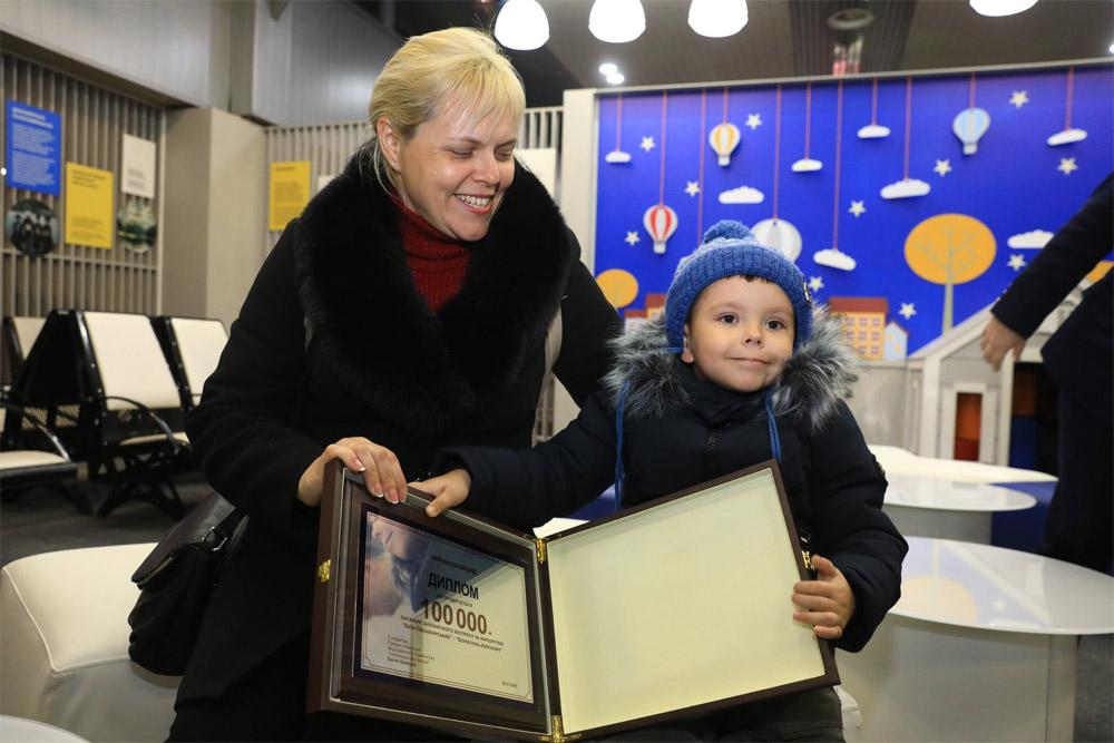 Татьяна, 100-тысячный пассажир экспресса в аэропорт Борисполь