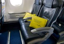Место в аварийном ряду в эконом-классе МАУ в самолете Embraer 190