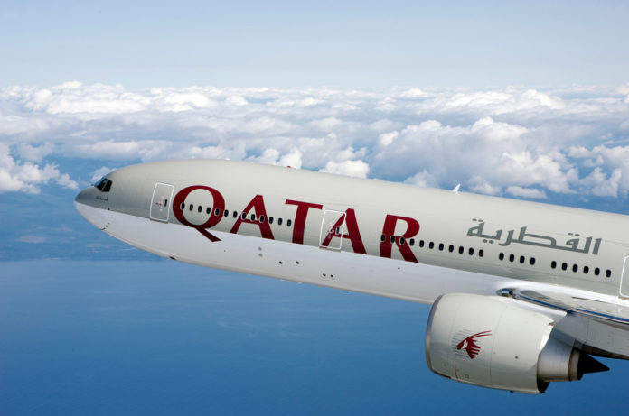Boeing 777 авиакомпании Qatar Airways