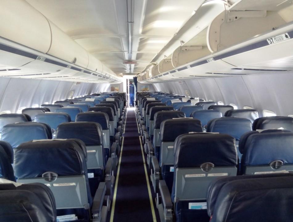 "Салон Boeing 737-500 ""Трансаэро"" VP-BYO"