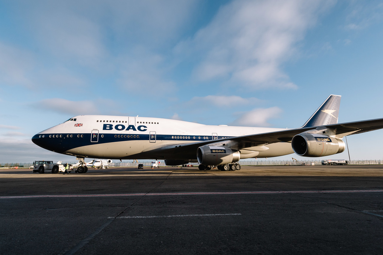 Boeing 747 British Airways в ретро-ливрее BOAC. Фото: Stuart Bailey