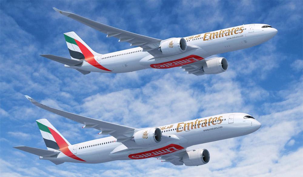 Airbus A330neo и A350 в ливрее Emirates