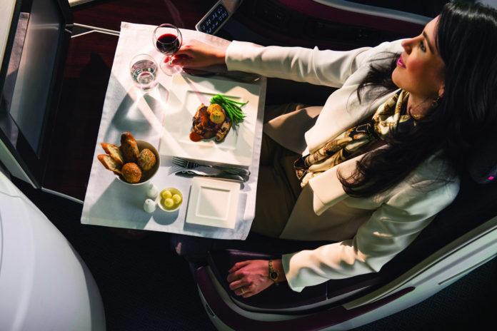 Сервис в бизнес-классе Qatar Airways