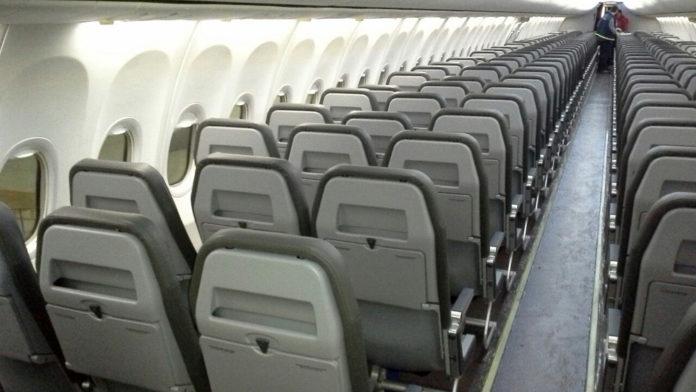 Новые тонкие кресла Arco в самолете SkyUp. Фото: авиакомпании