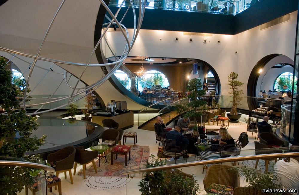 Нижний уровень бизнес-зала Turkish Airlines в аэропорту Ататюрка