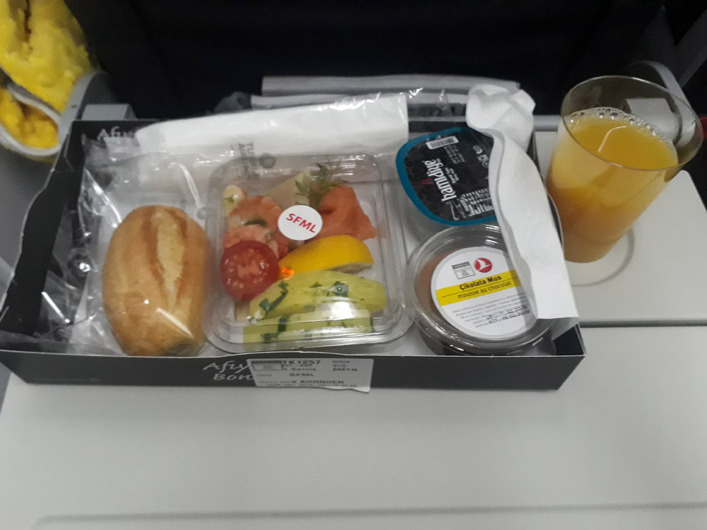 Холодный ланч на рейсах Киев-Стамбул Turkish Airlines
