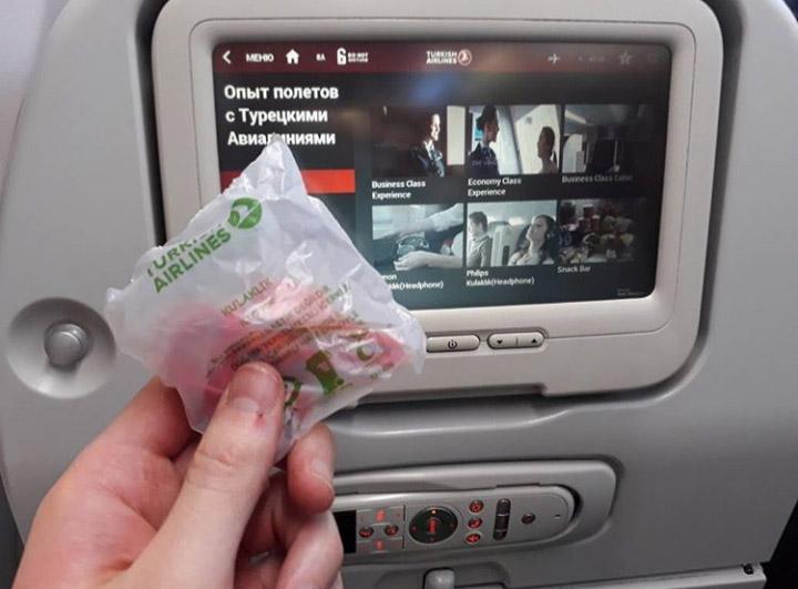 Бортовая система развлечений в самолете Turkish Airlines