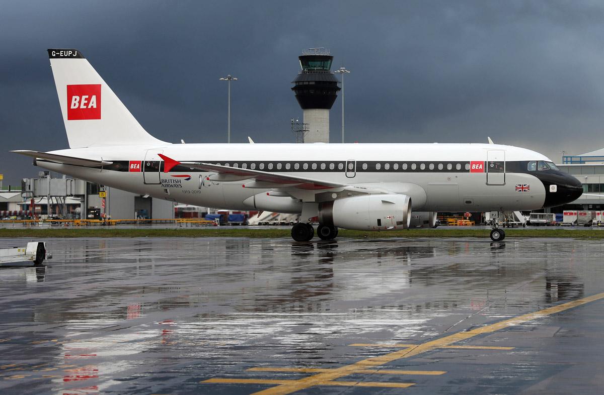 Airbus A319 в ливрее BEA