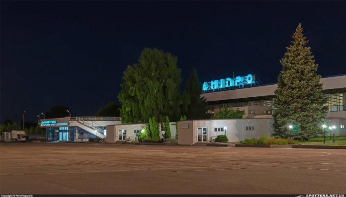 Старый терминал в аэропорту Днепропетровск