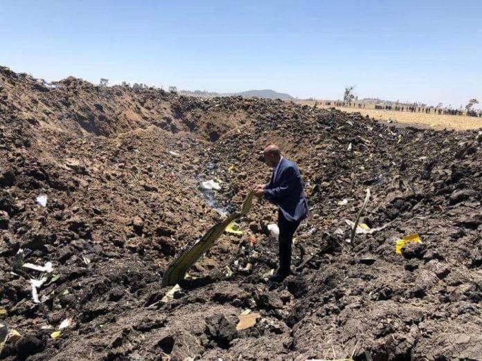 Место катастрофы Boeing 737 MAX 8 Ethiopian Airlines