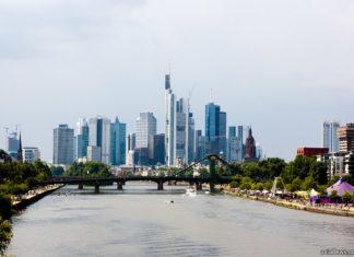 Франкфурт, вид на деловой квартал города