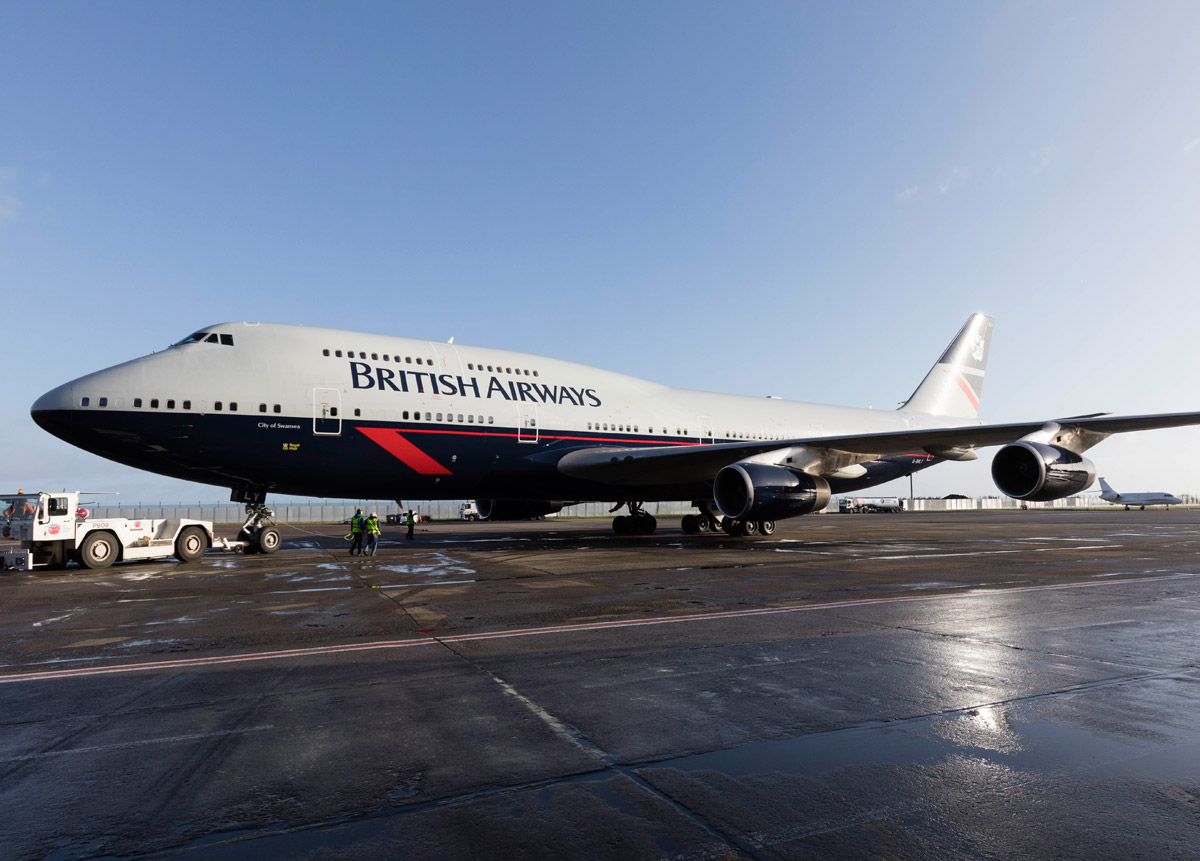 Boeing 747-400 British Airways в ливрее Landor