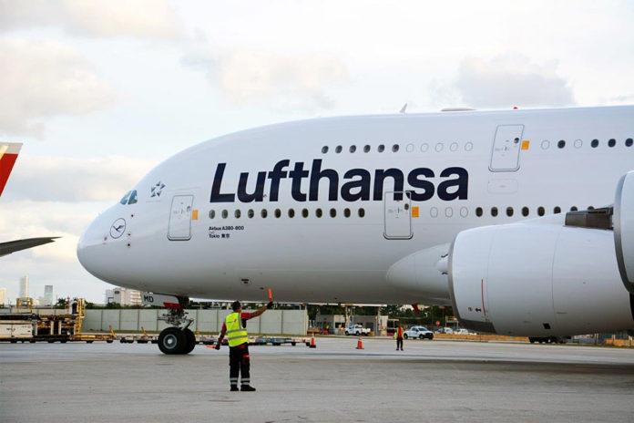 Airbus A380 авиакомпании Lufthansa