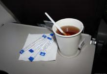 Чай на борту самолета