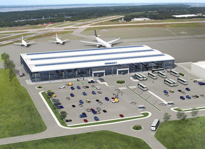 Визуализация терминала F на момент начала строительства