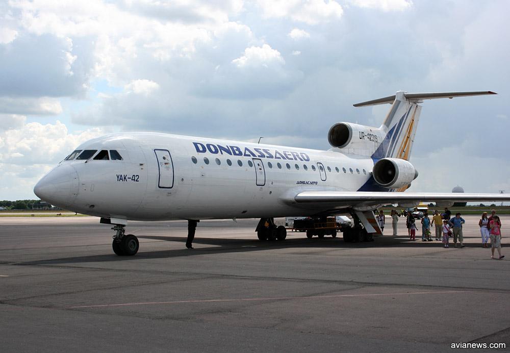 "Як-42 авиакомпании ""Донбассаэро"""