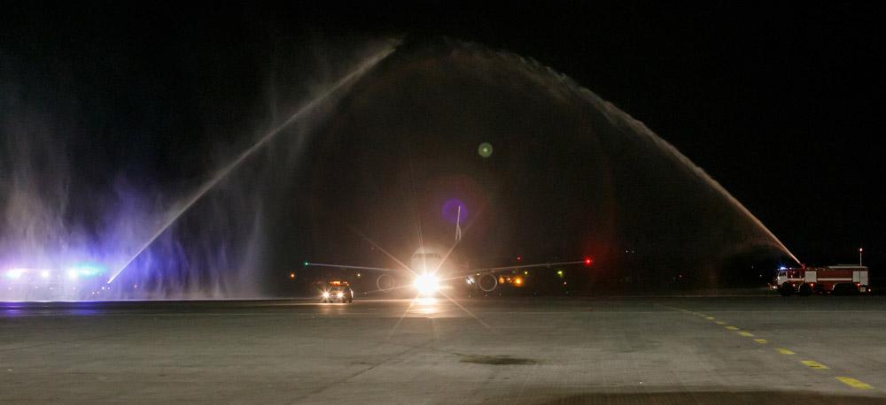 Встреча первого рейса Aigle Azur Париж-Киев в аэропорту Борисполь