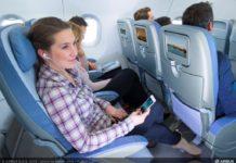 Современный салон самолета Airbus A320