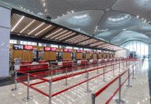 Стойки регистрации в новом аэропорту Стамбула